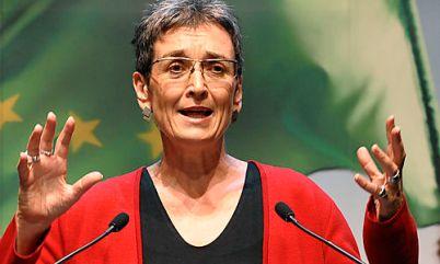 Ulrike Lunacek de l'Autriche, membre du Parlement européen. (Photo de de.electionsmeter.com)