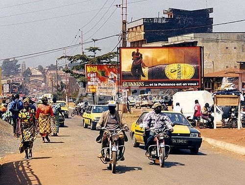 A busy street scene in the Mimboman district of Yaoundé, Cameroon. (Photo courtesy of Africa Presse)