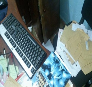 REDHAC offices on Nov. 2, 2015, after the burglary. (Photo courtesy of REDHAC)