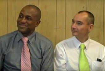 Maurice Tomlinson et Tom Decker (Photo du Réseau juridique canadien VIH/sida)