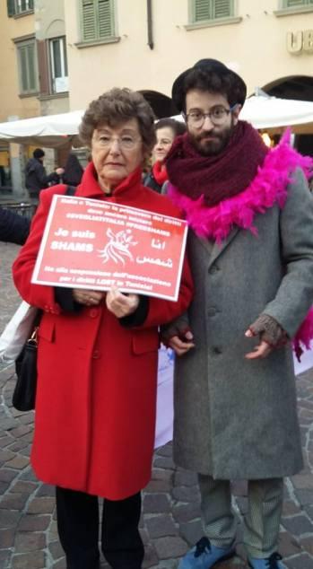 La parlementaire italienne Pia Locatelli soutient Shams (Photo de Facebook)
