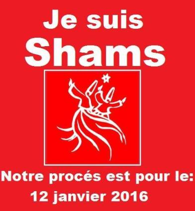 Un affichage du soutien de Shams sur la page Facebook de Shams.