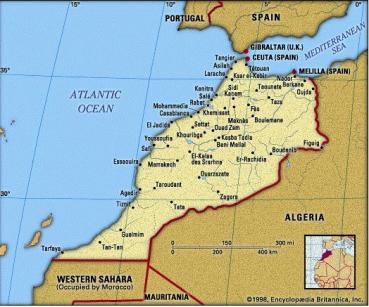 La localisation du Maroc
