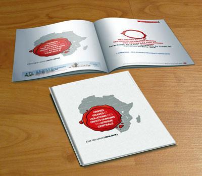 La couverture du fascicule Crimes graves et violations des droits humains en Afrique Centrale. Cliquer sur l'image pour le télécharger.