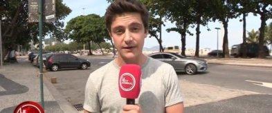 Martin Weill, l'envoyé spécial du Petit Journal, ici à Rio de Janeiro | capture d'écran Canal Plus