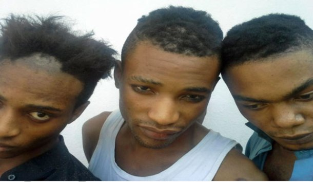 Stéphane, Yakoubou et Emilien (Photo de CAMFAIDS)