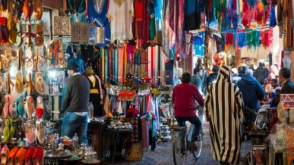 Photo du souk à Marrakech. (Photo de traveller.com.au)