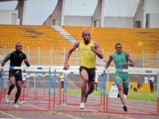 Thierry Essamba, détenteur du record du Cameroun dans le 110 mètres haies (Photo de Thierry Essamba)