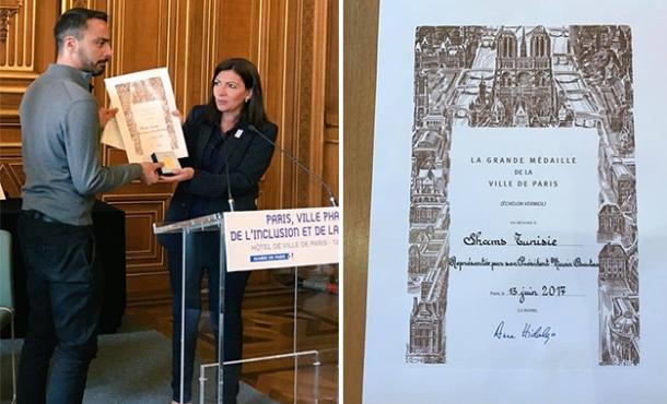 """L'association Shams reçoit la grande médaille de la ville de Paris pour son action en faveur des droits LGBT"""""""