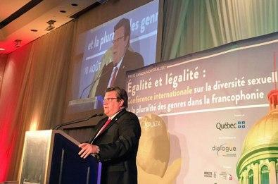 Ouverture de la conférence internationale par Denis Coderre, le maire de Montréal.