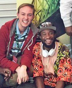 Michaël Cousin (à gauche) et Dominique Menoga