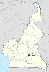 La localisation de Bertoua au Cameroun.
