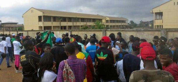 Juillet 2017: La marche pacifique lors de la Journée commemorative de lutte contre les violences à Yaoundé au Cameroun.