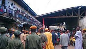 La prison centrale de Yaoundé.
