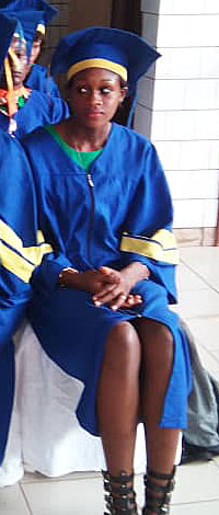 Joséphine au fin de ses études.