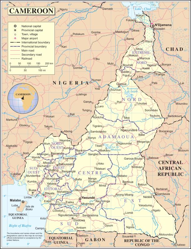 Buea se trouve dans la côte sud-ouest du Cameroun, juste à l'ouest de la capitale économique de Douala.
