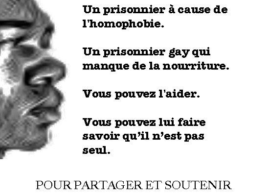 Cliquez sur l'image pour contribuer à aider les prisonniers gays au Cameroun à travers le programme de nutrition Pas Seul / Not Alone.