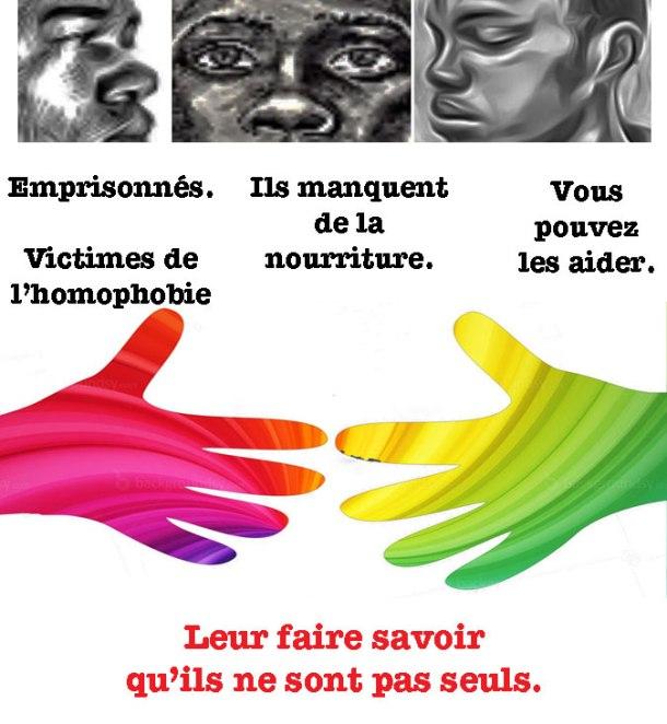 La campagne Not Alone / Pas Seul fournit de la nourriture à 3 prisonniers émaciés au Cameroun dont le seul crime est d'être gay. Un soutien supplémentaire est nécessaire.