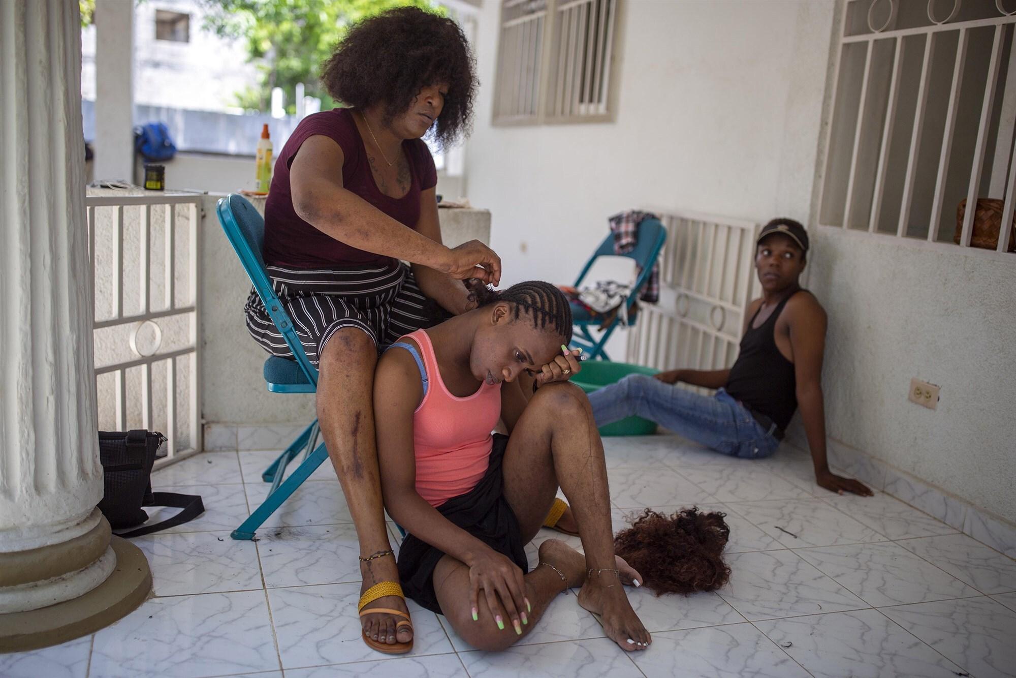 Residents of Kay Trans Ayiti (Dieu Nalio Chery / AP file)